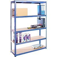 Scaffale per Garage – Scaffalatura – 180cm x 120cm x 40cm – Blu – 5 Ripiani (175Kg a ripiano) – Capacità di carico 875Kg…
