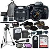 #8: Canon EOS Rebel T7i Digital SLR Camera with Canon EF-S 18-55mm IS STM Lens + Sandisk 32GB SDHC Memory Cards + Accessory Bundle