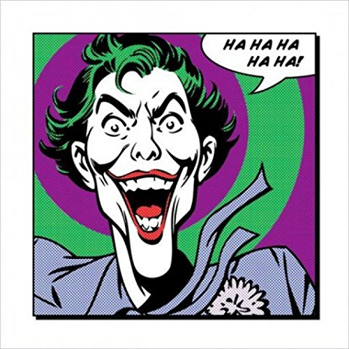 1art1 49604 Batman - Joker Ha Ha Poster Kunstdruck 40 x 40 cm (Ha Joker Poster)