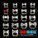 AiCheaX 100PCS / Lot Shinny Rhinestone Zircon Material Crown Bow Knot Flower Fox Design 3D Nail Art Jewelry Charms for Gel Tips herramientas