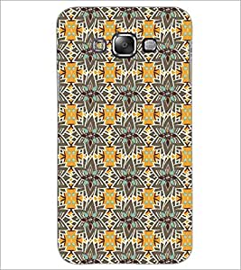 Printdhaba Pattern D-5208 Back Case Cover For Samsung Galaxy E7