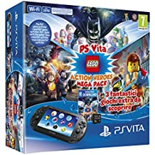 Playstation Vita 2016 + Mega Pack Lego Heroes + Mc 8GB [Bundle] [Importación Italiana]
