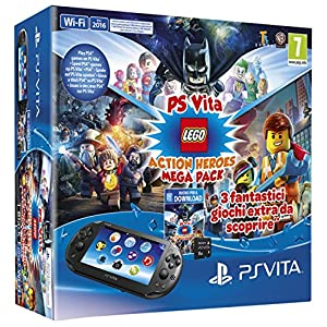 Playstation Vita 2016 + Mega Pack Lego Heroes + Mc 8GB [Bundle] [Italienische Import]