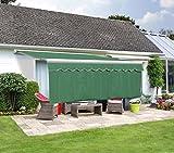 Primrose Lambrequin Enroulable Vert pour Store 2,50m - (Retombée 1m)