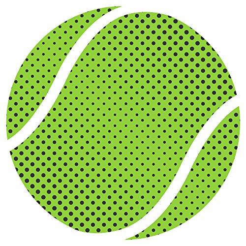 Dekodino® Pegatina pared pelota tenis verde puntos