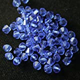 #1: Embroiderymaterial Crystal Beads for Craft and Jewellery Making(Sapphire Blue Color, 144 Pices)