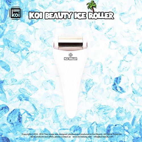 Koi Beauty en acier inoxydable skincool Glace Rouleau de massage pour visage et corps à la maison utiliser couleur blanc
