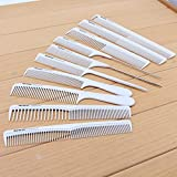 Neverland 10 pcs Professional Salon Hair Styling Hairdressing Hairdresser Combs Set White