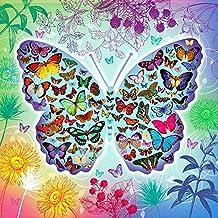 Kit para pinturas de diamante, falso bordado con cuentas; con diamantes de imitación completamente cuadrados y herramientas 5D., Insects - Butterflies, 20X20cm