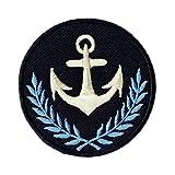 Aufnäher Bügelbild Aufbügler Iron on Patches Applikation Anker Wappen