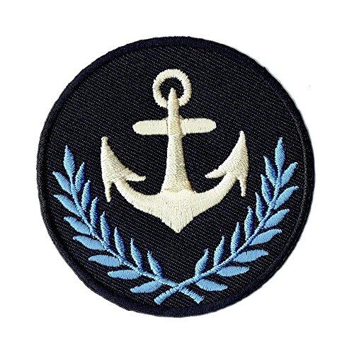 Aufnäher Bügelbild Aufbügler Iron on Patches Applikation Anker Wappen Wappen-patches