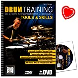 Drum Training Tools a Skills - Das ultimative Trainingsprogramm für das Schlagzeug von Patrick Metzger - mit DVD und bunter herzförmiger Notenklammer - EH3943-9783866263994