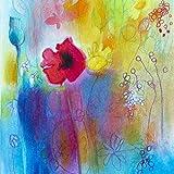 Grußkarte Briefpapier Notecards - Wildblumen - Set 8 Mixed Notelets Mit Umschlägen - Blank - Ideal für Geburtstag, Einladungen Danke, Muttertag und tut uns leid Karten einschließlich Designs von Mohnblumen, Wildblumen und Sonnenblumen