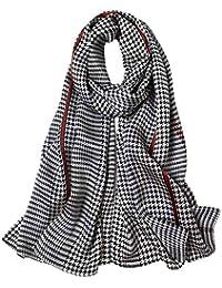 0980d98df20d STORY OF SHANGHAI Femme Foulard 100% Soie Coloré Echarpe Léger Elégant  Coupe Manuel Meilleur Cadeau