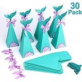 HOWAF Set di 30 Scatole Regalo di Sirena Fai da Te Caramelle Scatole, Sirena Bomboniere per Bambini Ragazze, Compleanno Feste