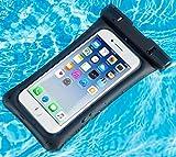 CASEKOO Wasserdichte Hülle, Wasserfeste Beutel für Handy, IPX8 Wasserdichte Schutz Beutel Staubdichte, Stoßfeste, Handytasche mit Armband & Umhängeband für iPhone 7/8 Plus/X/6/6S Plus/SE 5S, Samsung Galaxy s9/8/7/6 A5 A6 Honor 7 8 9 Huawei P8 P10 Lite bis zu 6.2