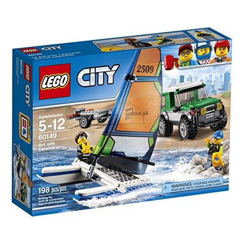 Lego - Kit di Costruzione Serie 'City' Veicolo 4 x 4 + Catamarano, Codice dell'Articolo: 60149