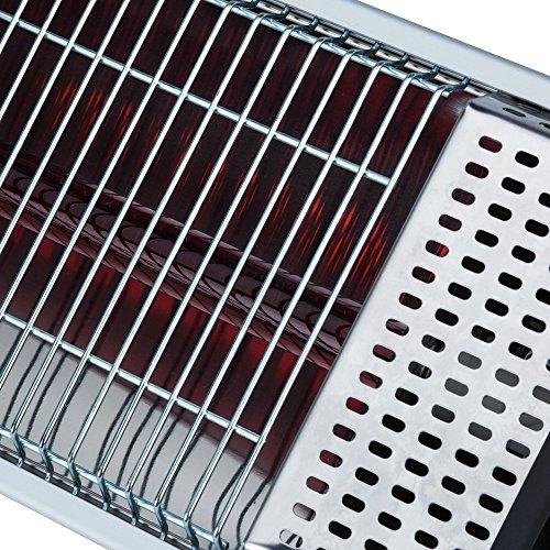 Hochwertiger leistungsstarker Terrassenstrahler Fraro mit Fernbedienung, Wandhalterung und Dreibeinständer – 2000 W – Infrarotstrahler – Terrassenheizer – Terrassenheizstrahler – Infrarot Terrassenstrahler – IR-Strahler – Infrarotheizstrahler – Wärmestrahler – dunkelrot leuchtend – nicht so grell – inkl. Versand – Dreibeinständer im Preis enthalten - 4