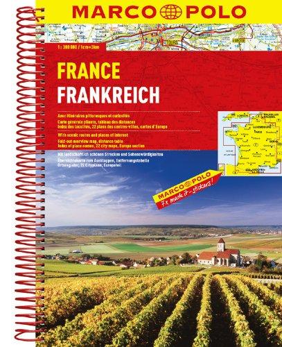 Frankreich Karte Burgund (MARCO POLO Reiseatlas Frankreich 1:300.000 (MARCO POLO Reiseatlanten))
