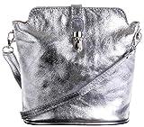 Primo Sacchi ® italienische weiche Leder Hand gemacht kleinen silbernen Kreuz Körper oder Schultertasche Handtasche. Enthält einen Markenschutz-Beutel