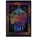 Indian Tapisserie Wandbehang Poster Tye–Farbstoff, Größe 40x 30Room Decor Home Decor indischen dekorative Boho Bohemian Mandala Tapisserie Poster, Schlafzimmer Dekoration Mandala Hippie Kleine Größe Poster