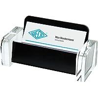 Wedo Acryl Exklusiv 0604401 Porte-cartes de visite Transparent/Noir