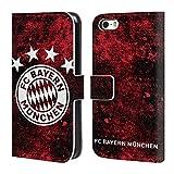 Head Case Designs Offizielle FC Bayern Munich Verzweifelt 2017/18 Muster Brieftasche Handyhülle aus Leder für iPhone 5 iPhone 5s iPhone SE