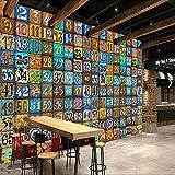 Tapete Fototapete Wand 3D Wandbild Retro Hintergrund kreative Wand riesige digitale Tapete