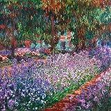 Artland Qualitätsbilder I Wandtattoo Wandsticker Wandaufkleber 40 x 40 cm Landschaften Garten Frankreich Malerei Lila C3EE der Garten des Künstlers Bei Giverny 1900