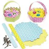 Bastelset für Osterkörbchen aus Pappe für Kinder Zum Selbermachen, Gestalten und Füllen mit Ostereiern (8 Stück)