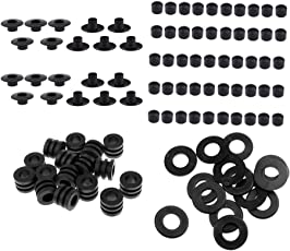 MagiDeal 16pcs Rubber Washers + 100pcs End Caps + 16pcs Bumpers + 10pcs Rod Bearing For 5/8 Foosball Machine Table Football / Soccer