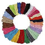 Tinksky 50pcs Baby Mädchen Kleinkind elastischem Crochet Haarband Stirnbänder Haargummis in 25 verschiedenen Farben