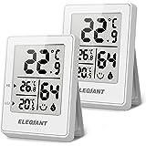 ELEGIANT (2 Piezas Termómetro Higrómetro Digital para Interior, Termohigrómetro Mini Medidor de Temperatura Medidor Profesion