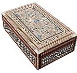 CraftsOfEgypt ägyptische Mosaik Bx6 Schmuck Schmuckschatulle, Perlmutt