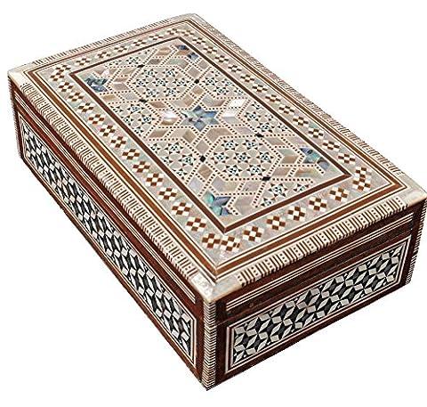CraftsOfEgypt égyptien avec boîte à bijoux Mosaïque Bx6
