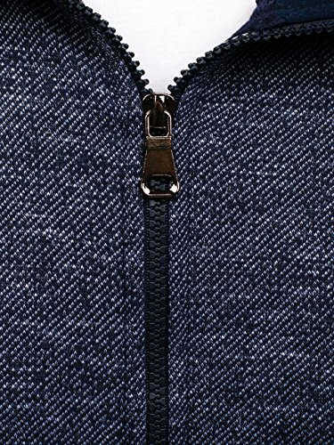BOLF Herren Sweatshirt mit Kapuze Sweater Kapuzenpullover 1A1 Dunkelblau_5006