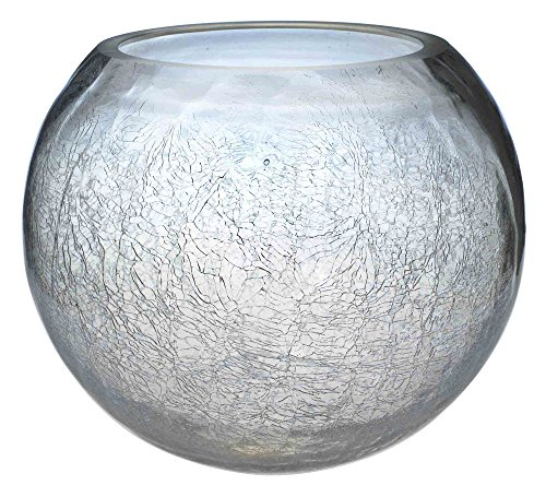 New Crackle Cracked Glass Fish Bowls Wedding Table Centrepiece Home Decor 10cm 15cm 20cm Or 25cm (10, 20cm)