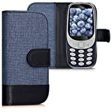 kwmobile Wallet Case for Nokia 3310 (2017) - Fabric and PU