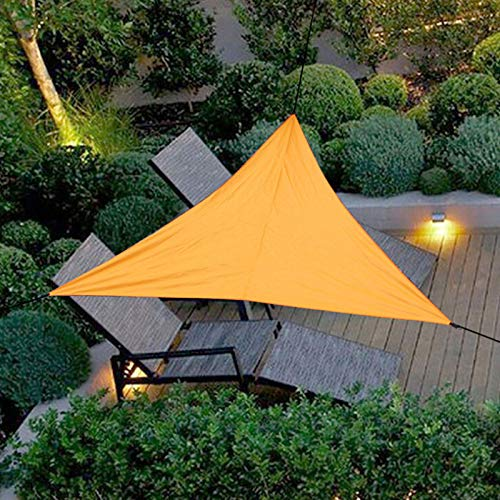 Sun 3-zoll-pool (HEEGNPD Sun Shelter Sonnenschutz Schutz Markise UV Block Sonnenschutz Segel für Terrasse Outdoor Garten Patio Top Cover Picknick Camping,Orange,3×3×3m)