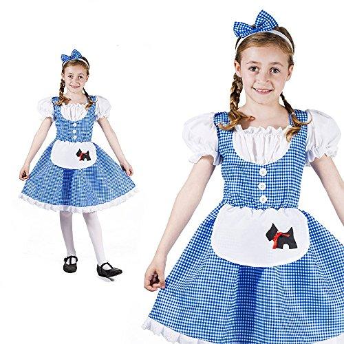 Dorothy Oz Mädchen Zauberer Kinderkostüm
