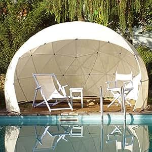 garden igloo sonnenschutz bezug f r pavillon gew chshaus garten iglu four seasons wei. Black Bedroom Furniture Sets. Home Design Ideas