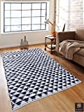 #5: Romee Navy Blue Cotton Triangle Design Dhurrie, 3ft X 5ft
