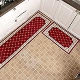 CarPET_Kitchen Streifenmatten-Set, Rutschfeste saugfähige Anti-Öl-Türmatte, maschinenwaschbar (Mehrfachauswahl)