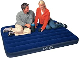 Intex Inflatable Full Classic Downy Bed Air Bed/Mattress, Blue