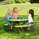 Lifetime 60132 34 in x 25 in (86 x 63 cm) Childrens Oval Picnic Table (lime green)