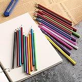 gugutogo 24Farben Schule Büro perfekt feine Wood Art Zeichnen Graffiti Oil Base Skizze Bleistifte Set Zeichnen Vorräte für Künstler (Farbe: Multi Farbe)