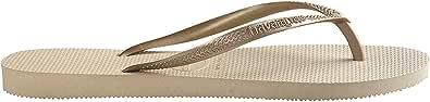 Havaianas Slim Sand Grey/Light Golden Flip Flops - UK