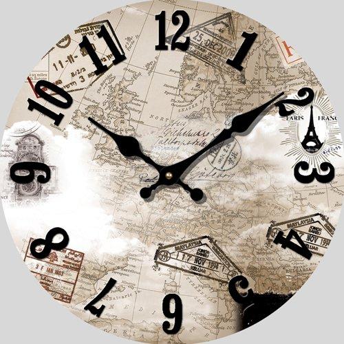CLG-FLY Continental orologio arte mute soggiorno grafici per parete cerchio orologio orologio#13