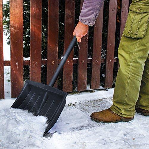 Jago Schneeschaufel Schneeräumer einzeln oder im zweier Set mit Farbwahl inkl. Stiel aus Stahlrohr - 6