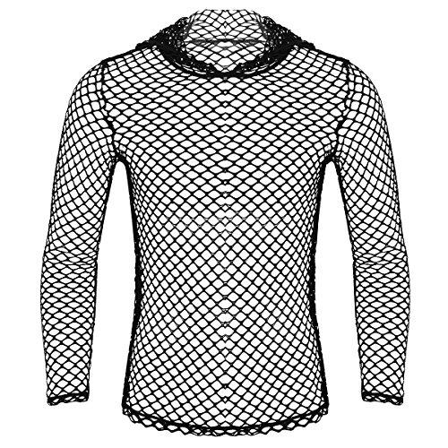 MSemis Camiseta de Malla para Hombre Chaleco Transparente con...